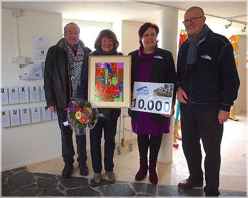 10.000ste bezoeker galerie Huis ter Heide.